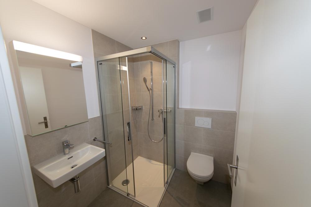 WC / Dusche im Weitwinkel